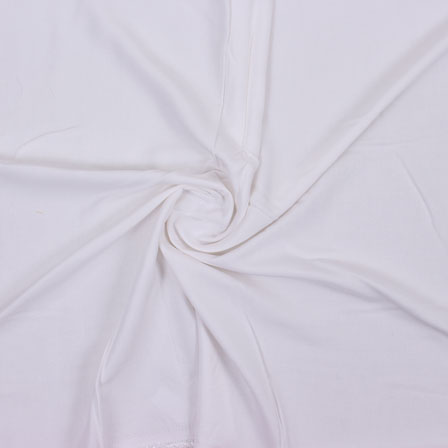 White Plain Rayon Fabric-40687
