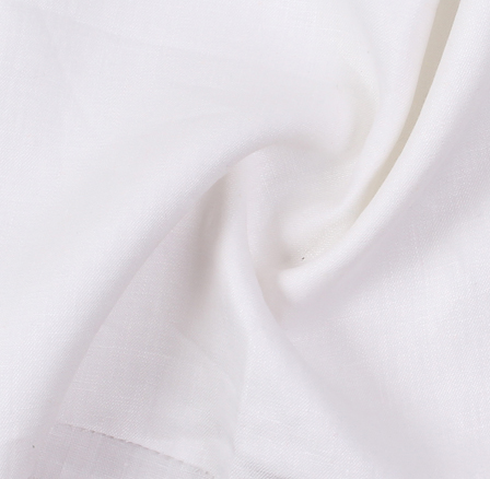 White Plain Linen Fabric-SD90031