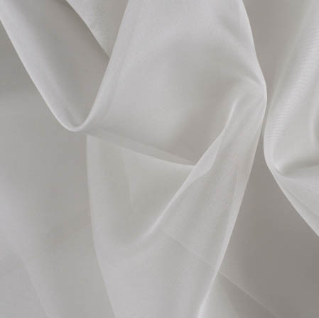 White Plain Organza Silk Fabric-51793