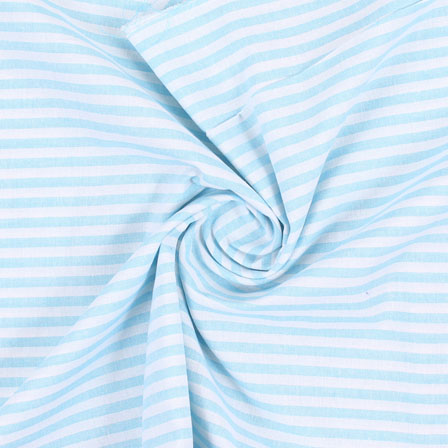 White Sky Blue Handloom Khadi Cotton Fabric-40427