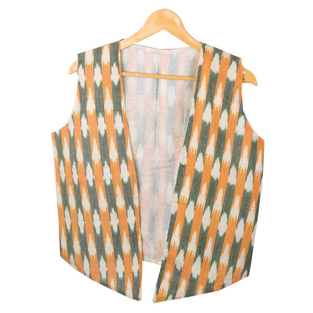 /home/customer/www/fabartcraft.com/public_html/uploadshttps://www.shopolics.com/uploads/images/medium/White-Yellow-Sleeveless-Ikat-Cotton-koti-jacket-12294.jpg