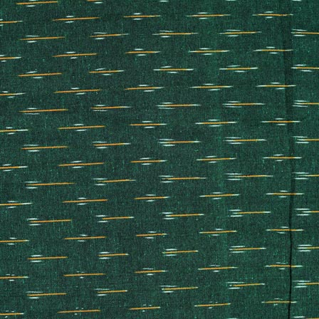 White-Yellow and Green Ikat Cotton Fabric-4235