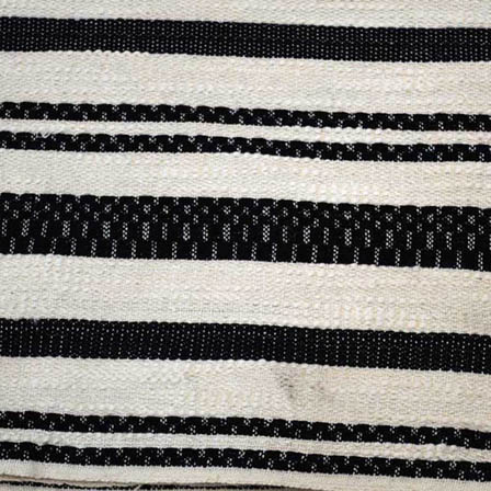 White and Black Lining Pattern Cotton Jacquard Fabric-31018
