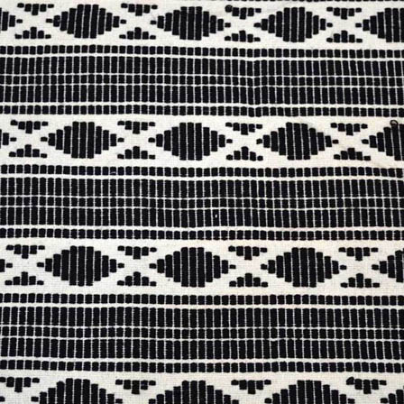 White and Black Square Pattern Cotton Jacquard Fabric`-31019