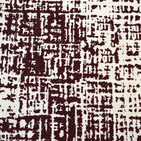 White and Maroon Unique Design Cotton Jacquard Fabric-31007