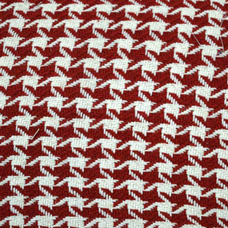 White and Maroon Unique Design Cotton Jacquard Fabric-31044