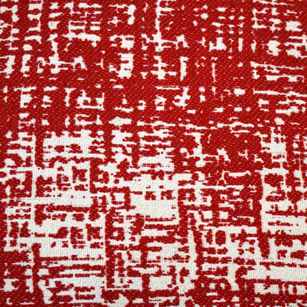 White and Red Unique Design Cotton Jacquard Fabric-31002