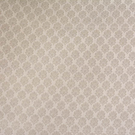 White and Silver flower pattern silk brocade fabric-4671