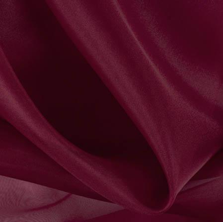 Wine Plain Organza Silk Fabric-51804