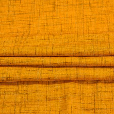 Yellow Plain Handloom Cotton Fabric-41041