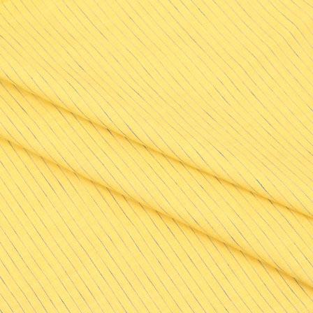 Khadi Shirt (2.25 Meter) Fabric-Yellow Blue Handloom-140603