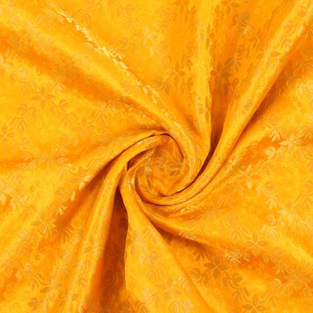 Yellow Golden Brocade Silk Fabric-8988