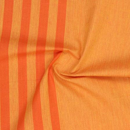 Cotton Shirt (2.25 Meter)-Yellow Orange Striped Handloom-140723