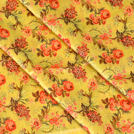 Yellow-Pink-and-Green-Flower-Design-Digital-Print-Silk-Fabric-24047