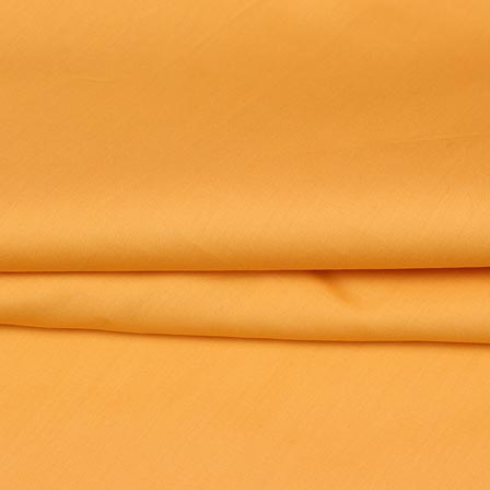 Yellow Plain Cotton Silk Fabric-16464