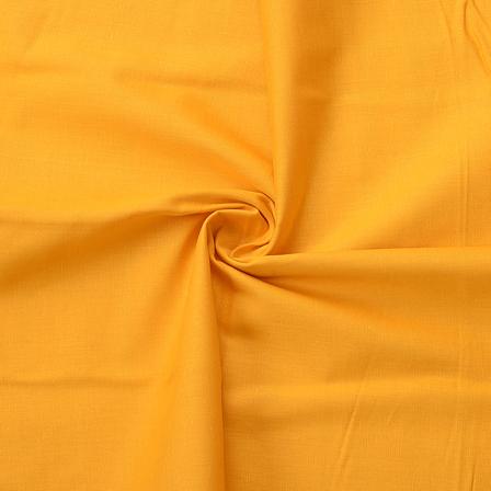 Yellow Plain Cotton Slub Handloom Fabric-40205