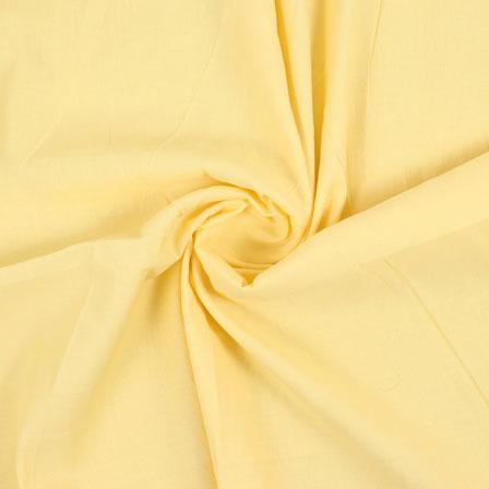 Yellow Plain Handloom Khadi Cotton Fabric-40431
