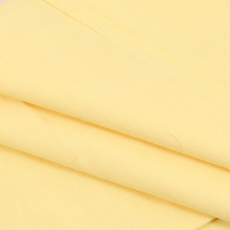 Khadi Shirt (2.25 Meter) Fabric-Yellow Plain Handloom-140431