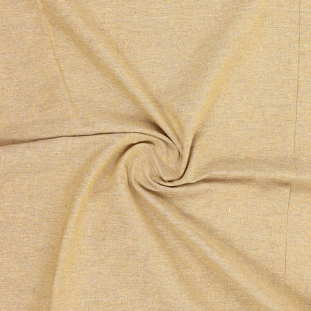 Yellow Plain Handloom Khadi Cotton Fabric-40506