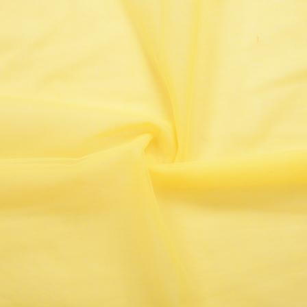 Yellow Plain Indian Net Fabric-60173