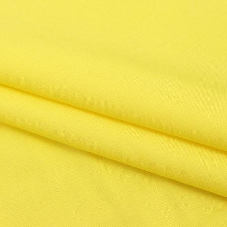 Rayon Shirt (2.25 Meter)-Yellow Plain Rayon Fabric-40694