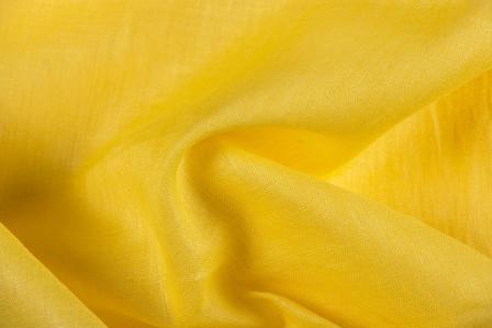 Yellow Plain Linen Fabric-90014