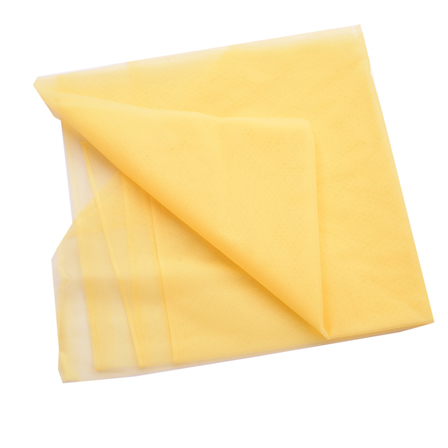 Yellow Plain Net Indian Fabric-60171
