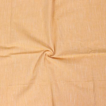 Yellow Plain Slub Samray Handloom Fabric-40081