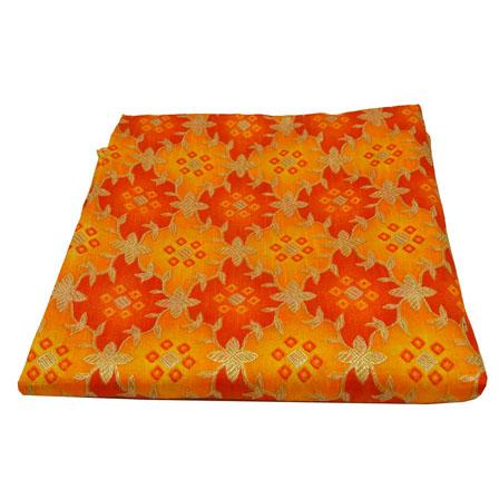 Yellow-Red and Golden Floral Design Kota Doria Fabric-25025
