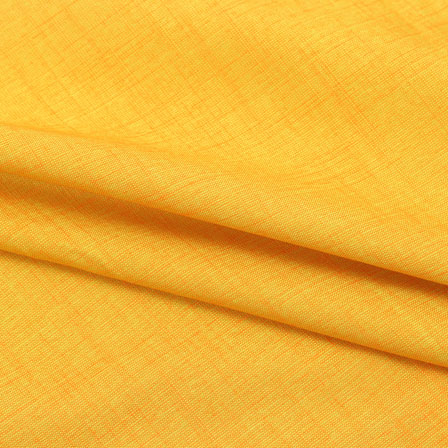 Yellow Two tone Linen Cotton Fabric-40640