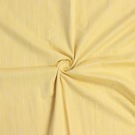 Yellow Viscose Cotton Samray Handloom Fabric-40079