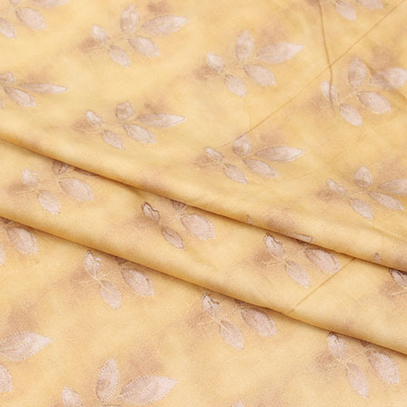 Yellow White Flower Jam Cotton Fabric-15258
