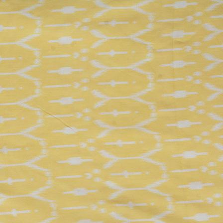 Yellow White ikat two tone Rayon Fabric-15183