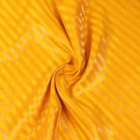 Yellow and Golden Brocade Silk Fabric-8872