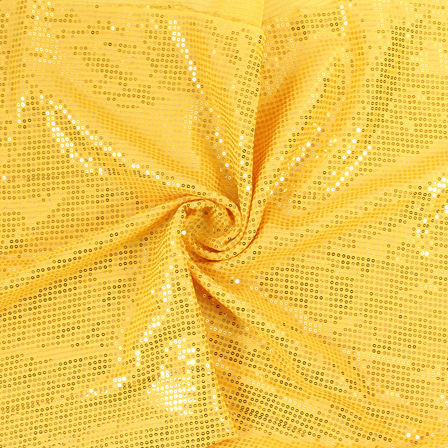 Yellow and Golden Shiny Sequin Fabric-60812