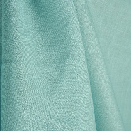 Aqua Green Plain Indian Linen Fabric-GN90043