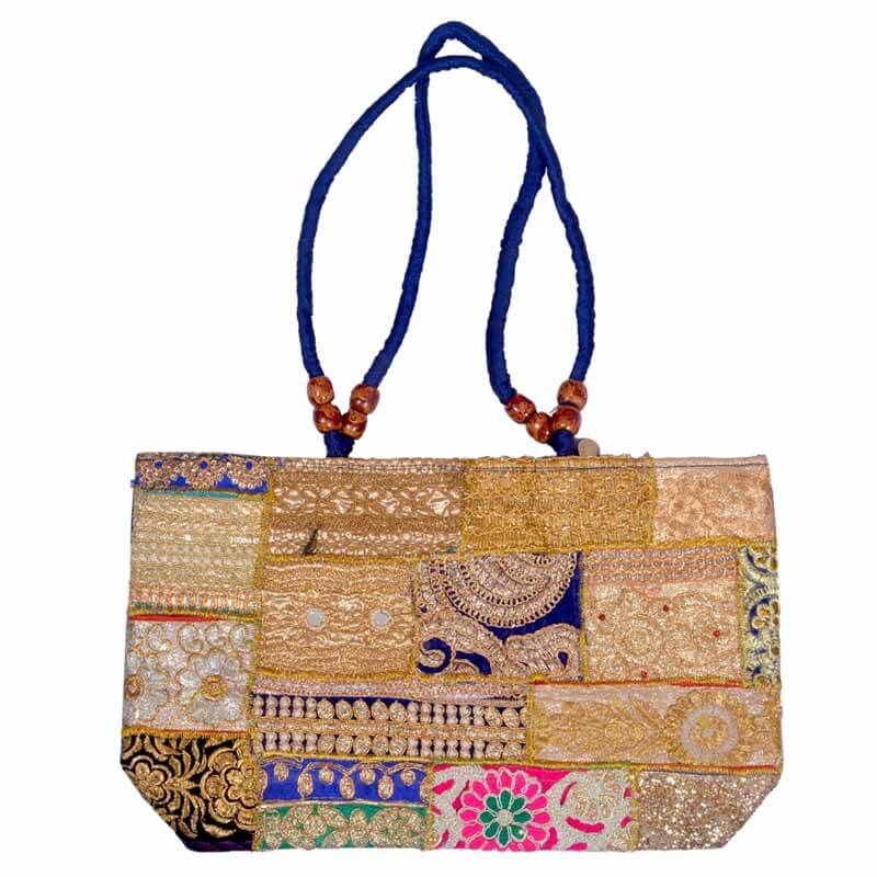 Beautiful Hand Embroidery Zari Work Shoulder Bag