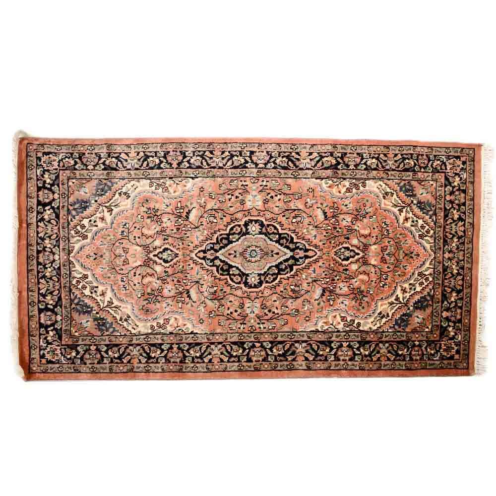 Black/pink 3*5 Persian Hand Knotted Wool Rug