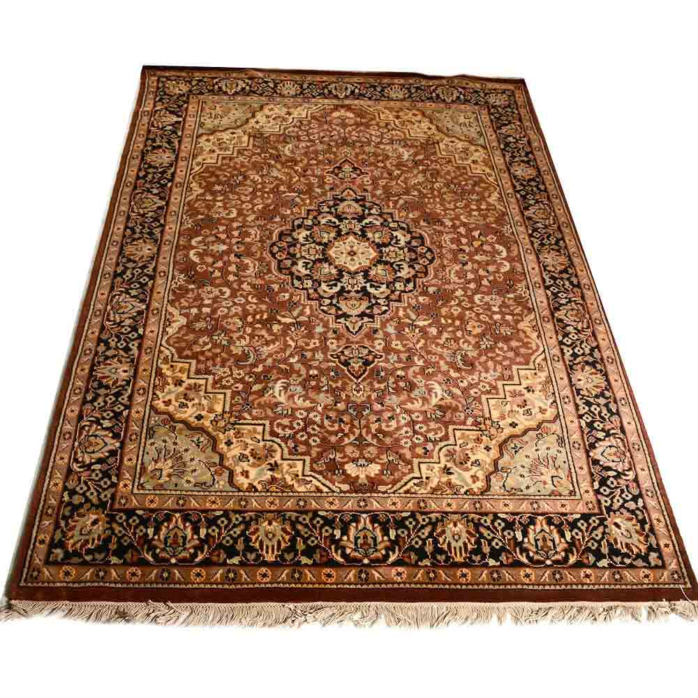 Black/Red 5*8 Persian Hand Knotted Wool Rug