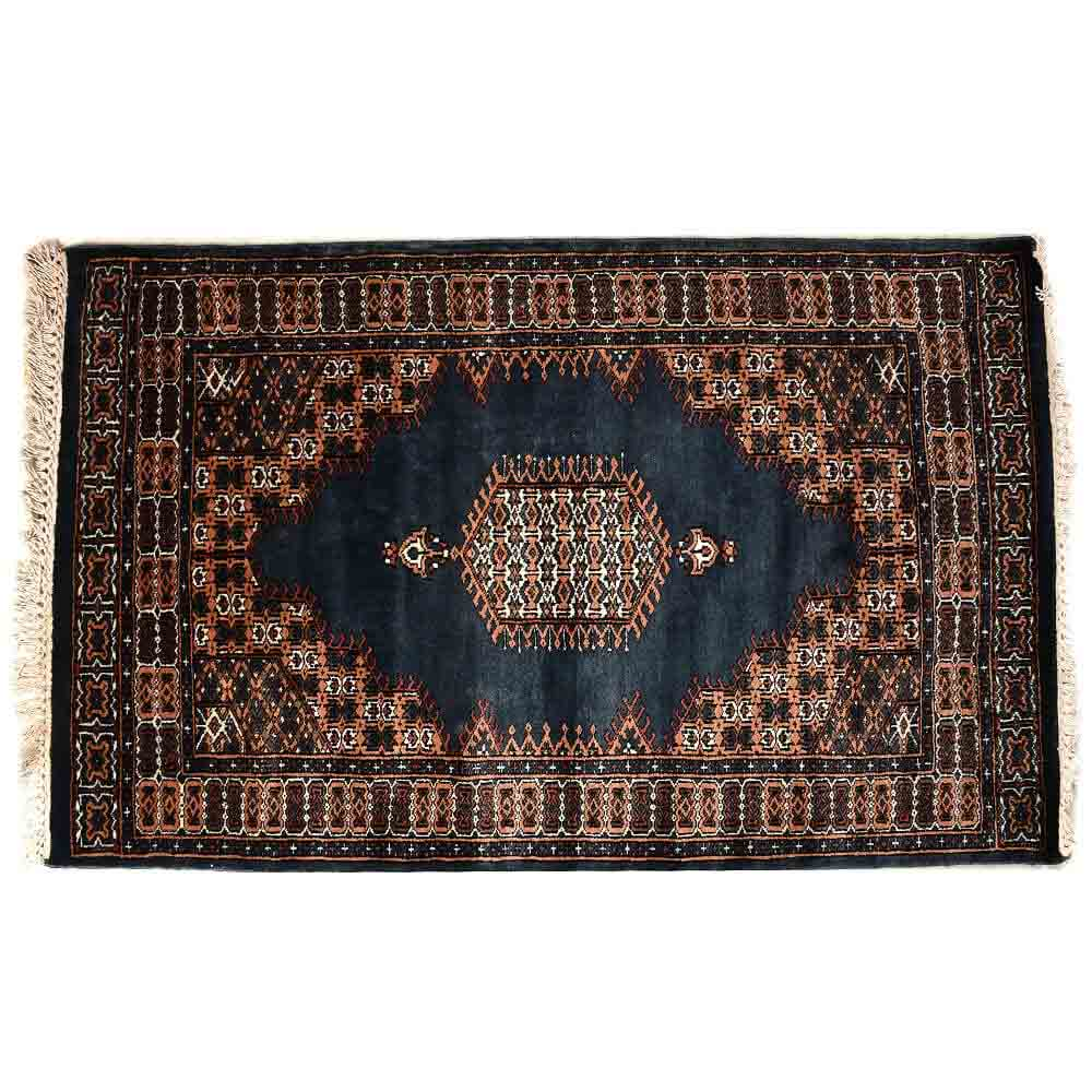Blue 3*5 Persian Hand Knotted Wool Rug