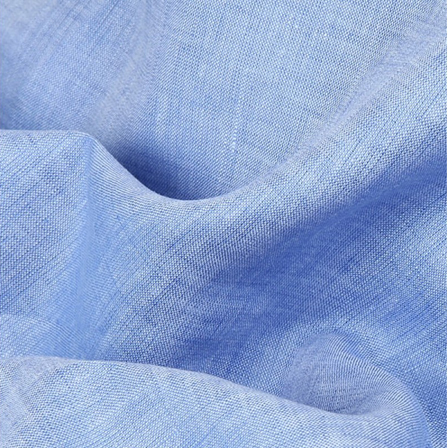 Blue Plain Indian Linen Fabric-GN90044
