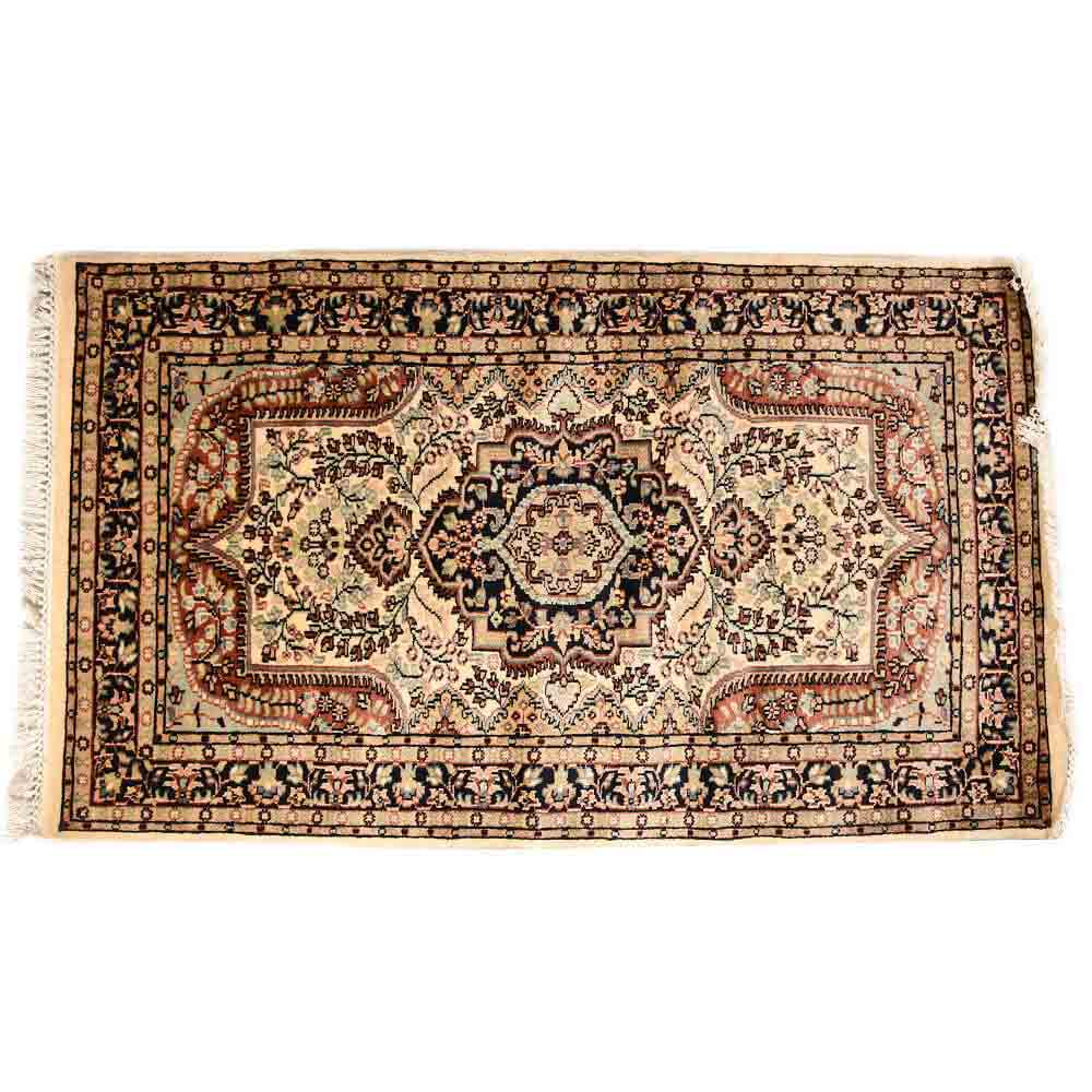 Blue/White 3*5 Persian Hand Knotted Wool Rug