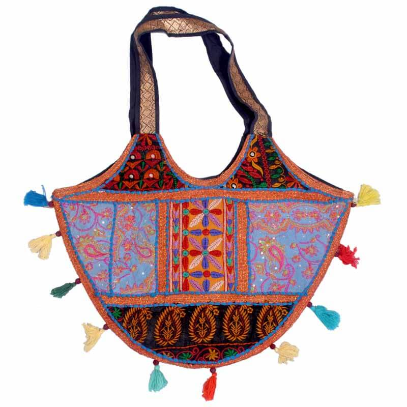 Embroidery Khambaria Handmade Multipattern Large Shoulder Bag