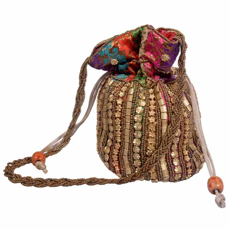 Multicolor Potli With Mirror Work