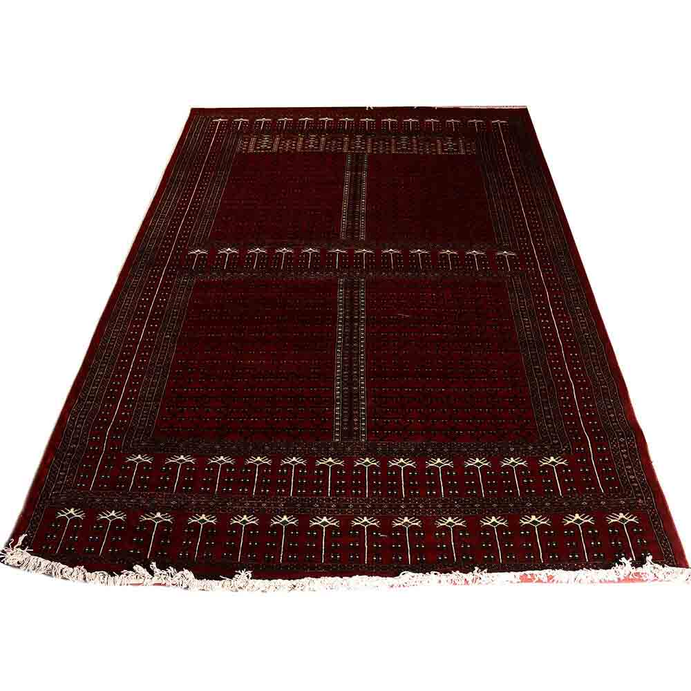 Buy Red 6 9 Parda Hand Knotted Wool Rug