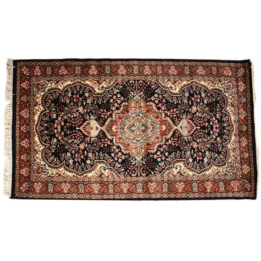 Red/Black 3*5 Persian Hand Knotted Wool Rug