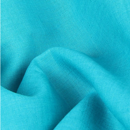 Sky Blue Plain Indian Linen Fabric-GN90047