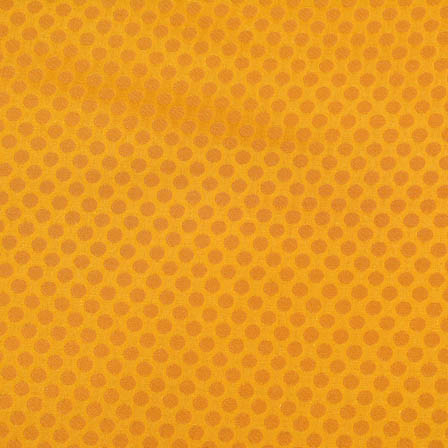 yellow and small golden polka designed brocade fabric-4655