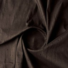 Black Dupion Silk Fabric-4851