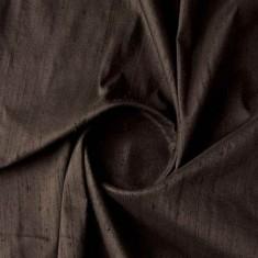 Black Dupion Silk Fabric-4851